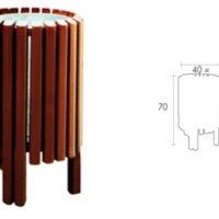 Papelera exterior mobiliario urbano 15VLN12010