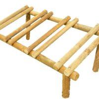 Aparcabicicletas de madera para jardín y exteriores