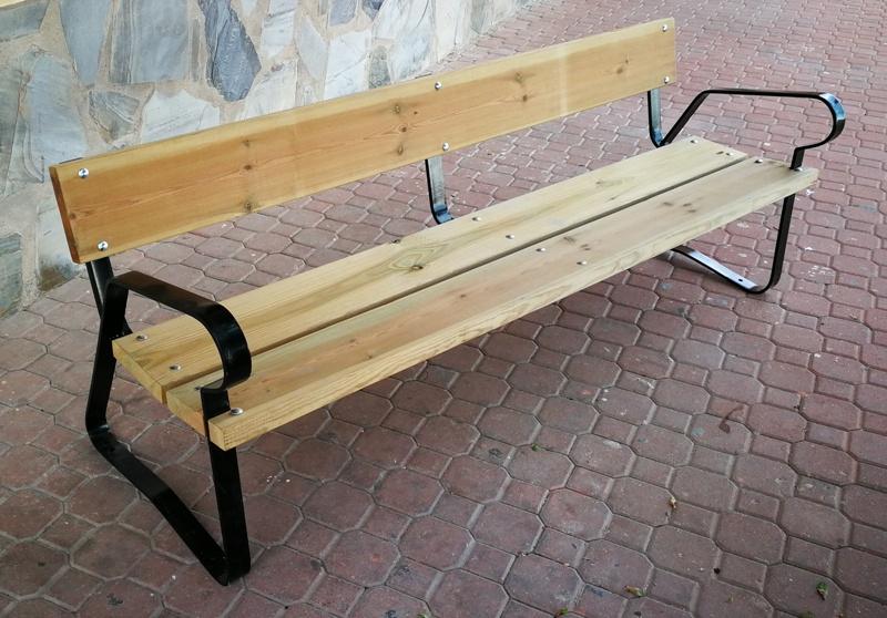 Venta banco urbano de acero y madera 02VLN1002 - Vilena