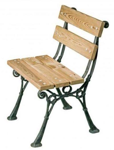 "Silla exteriores madera acero ""Venecia"