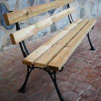 Banco jardín hierro madera 02VLN3108
