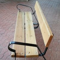Venta banco acero madera 02VLN1002