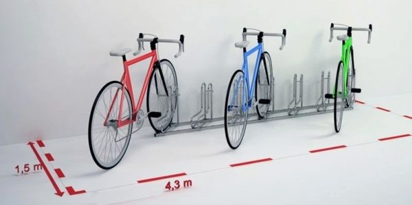 Soportes metálicos para bicicletas de hierro