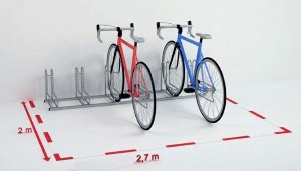 Precio de soportes metálicos para bicicletas