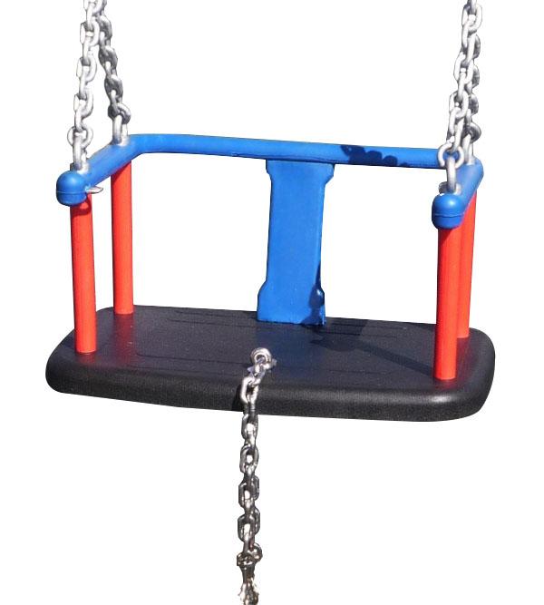 Asiento para parque infantil con cadenas