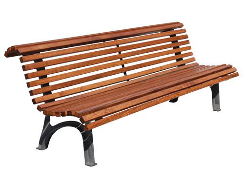 Comprar banco de listones de madera y acero gmb12079md vilena - Banco jardin barato ...