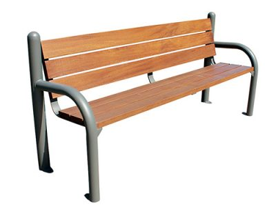 Banco listones madera acero GMB12350MD