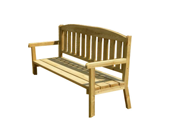 Banco de madera para exteriores y jardín