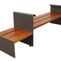 Conjunto madera tropical acero GMB12026MD
