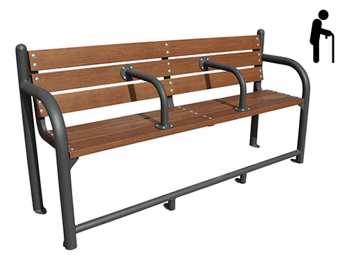 Banco madera acero ergonómico GMB12351MD