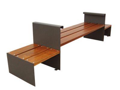 Bancos madera patas acero GMB12027MD