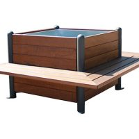Jardinera madera plus bancos GMJ12351MD