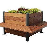 Jardinera madera bancos incorporados GMJ12352MD