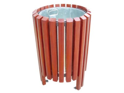 Papelera redonda madera exterior GMP12156MD