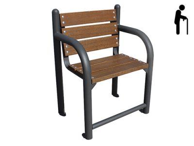 Silla madera barra pies GMB12352MD