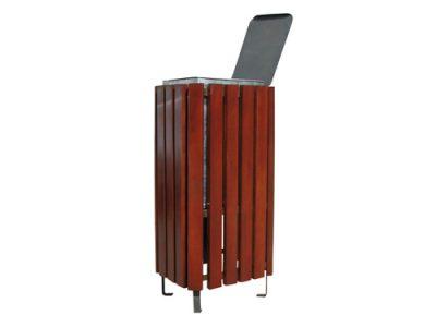 Papeleras madera acero urbanas GMP12155MD
