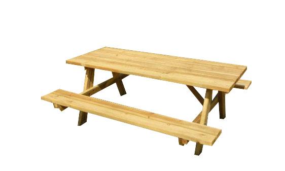 Mesa picnic con bancos