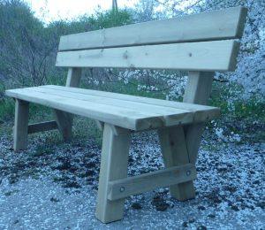Banco para jardin de madera para exterior