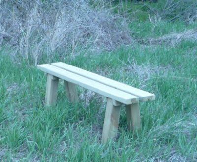 Venta banco madera jardín