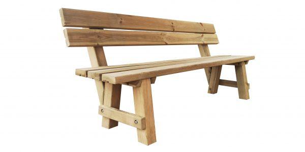 Banco exterior madera tratada para exteriores