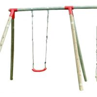 Venta de columpios de madera para niños. Accesorios para parques infantiles