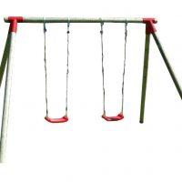 Venta de columpios infantiles de madera con asientos de plástico con cuerdas