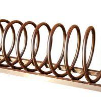 Aparcabicicletas de acero inoxidable para exterior