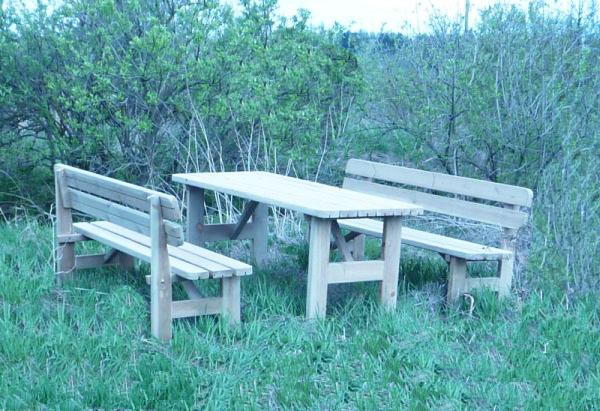 Conjunto de madera picnic para exterior