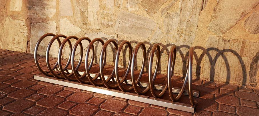 Aparcabicicletas de acero para exteriores