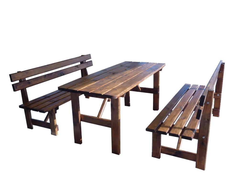 Mesas picnic para jardin con bancos