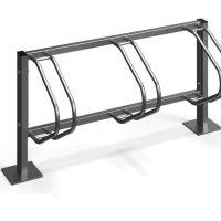 Comprar soportes bicis acero. Venta de aparcamientos para bicicletas de acero inoxidable. Mobiliario urbano de uso público para exterior.