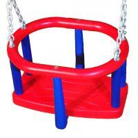 Asiento con cadena galvanizada