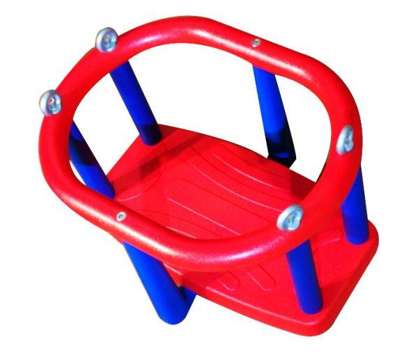 Asiento con cadena galvanizada. Cesta para bebés de caucho para columpios infantiles.