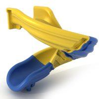 Toboganes para niños. Accesorios para parques infantiles. Tobogán modulable multicolor para áreas de juegos en exteriores. Ocio infantil.