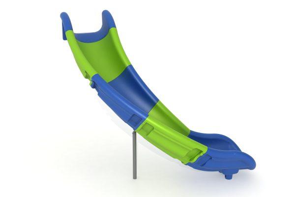 Toboganes abiertos inclinados. Accesorios para parques infantiles. Tobogán modulable multicolor para áreas de juegos en exteriores. Ocio.